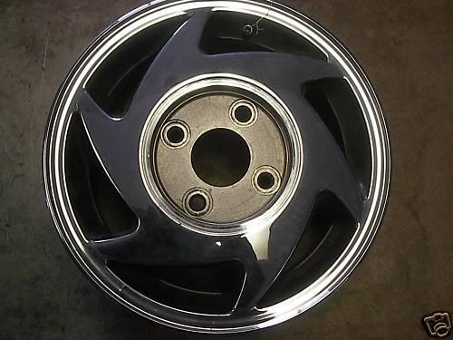 "1991 91 92 Hyundai Scoupe Alloy Wheel Rim 14"" Chrome OE"