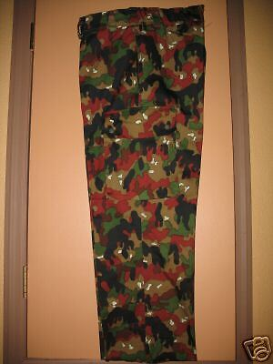 "SWISS ARMY ALPENFLAGE CAMO COMBAT PANTS 32-34"" W - NEVER USED- NEVER WORN"