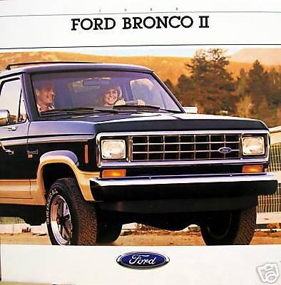 1988 Ford Bronco II SUV new vehicle brochure