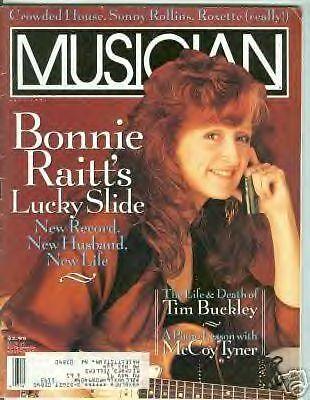 Bonnie Raitt cover Musician mag Tim Buckley article