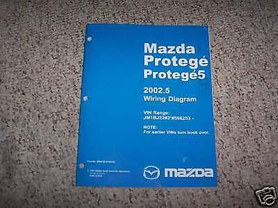 2002 Mazda Protege 5 Wiring Diagram Service Manual Book