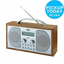 Bush Wooden RDS DAB LCD Radio. From the Official Argos Shop on ebay