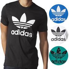 Adidas NEW Mens Original Crewneck Graphic Tee Trefoil T-Shirt $30