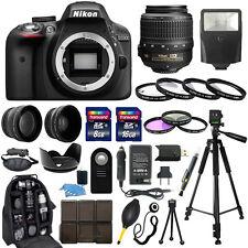 Nikon D3300 DSLR Camera +18-55mm VR NIKKOR Lens + 30 Piece Accessory Bundle