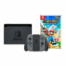 Nintendo Switch with Gray Joy-Con & Mario + Rabbids Kingdom Battle