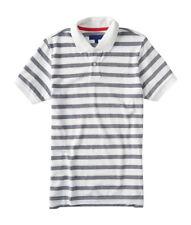 aeropostale mens striped oxford pique polo shirt