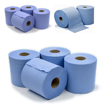 6 x Workshop Hand Towels Rolls 2 Ply