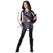 Hooded Huntress Costume Girls Tween/Kids Halloween Fancy Dress