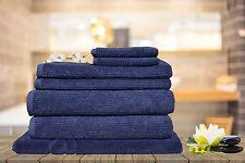 7 Pieces Egyptian Cotton Ribbon Bath Towels Set - Various Colours