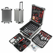 466pcs Tool Set Case Mechanics Kit Box Organize Castors Toolbox Trolley New