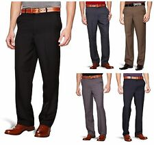 Men's Farah Flexi Waist Stretch Straight Leg Trousers