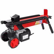 Log Splitter Cut Wood Mobile Electrical 7 Tons Cutter Hydraulic Wheel 3400RPM